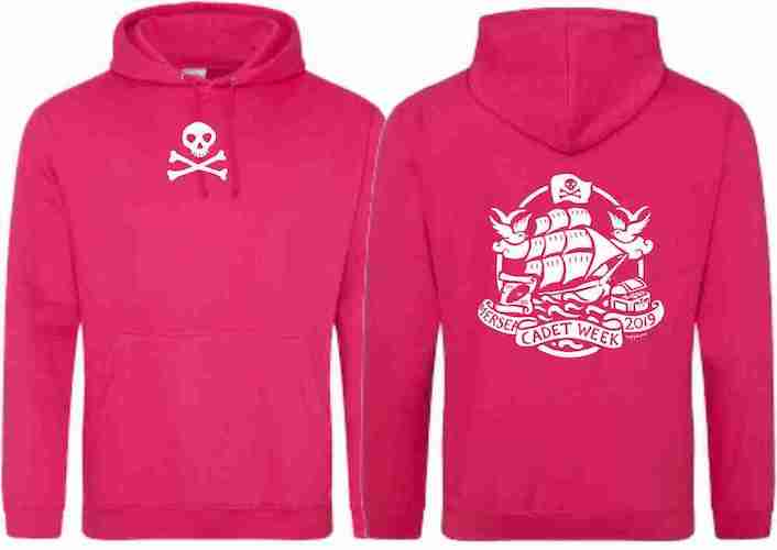 Adults Hoodie (Hot Pink)